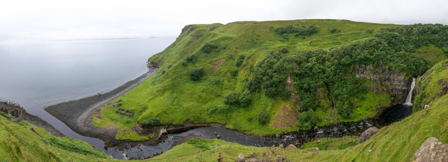 Landscape and waterfall in the Isle of Skye