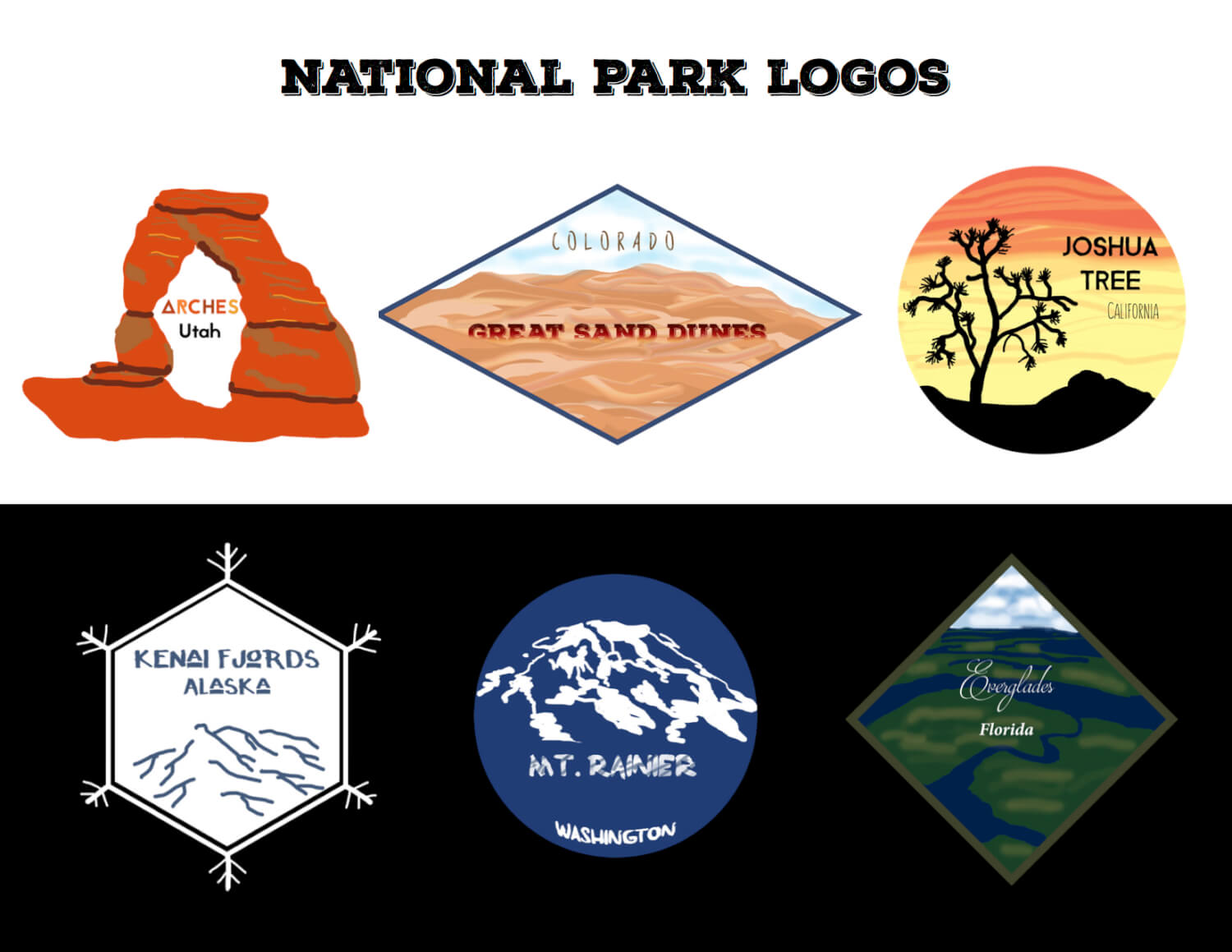 National Park Logos from Rebecca Helen Photography & Tribelhorn Art & Design