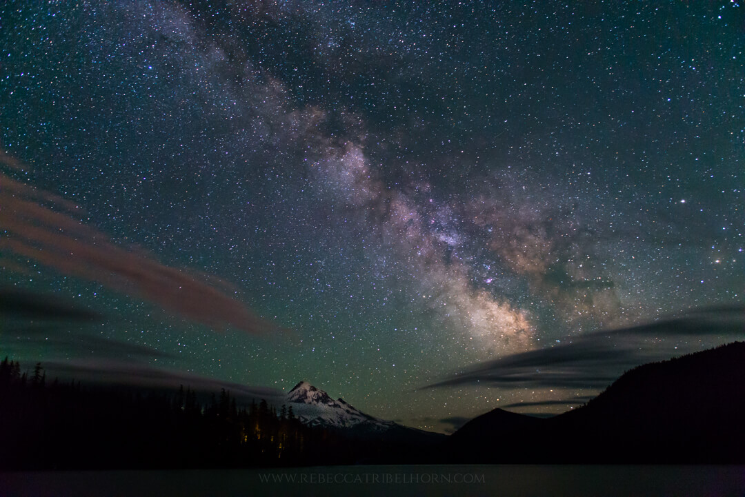 The Milky Way over Mt. Hood and Lost Lake
