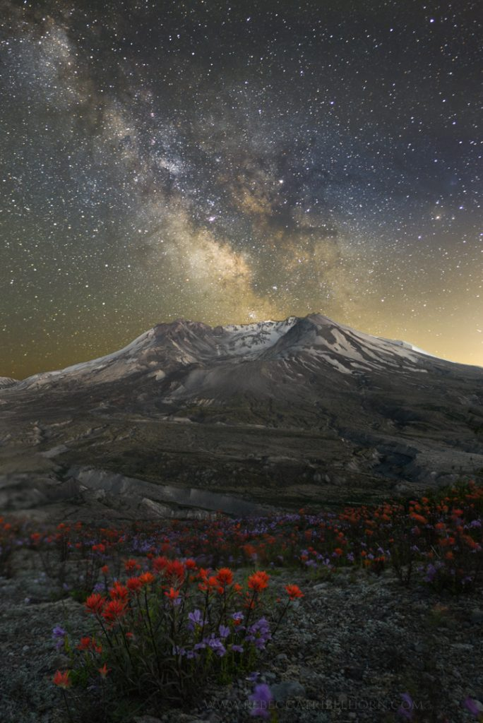Milky Way over Mt. St. Helen's