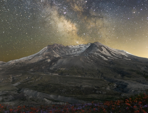 Milky Way over Mt. St. Helens